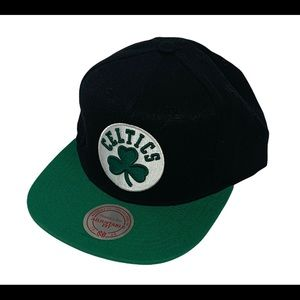 Boston Celtics Mitchell & Ness Black Green Nostalgia Adjustable Snapback Hat New